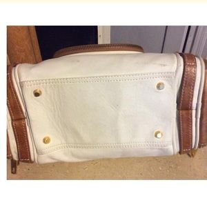 Junior Drake Bags - Junior Drake White Leather Satchel